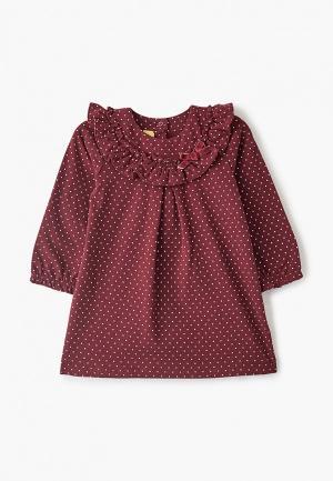 Платье Chicco. Цвет: бордовый