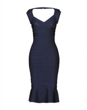 Короткое платье HERVÉ LÉGER. Цвет: темно-синий