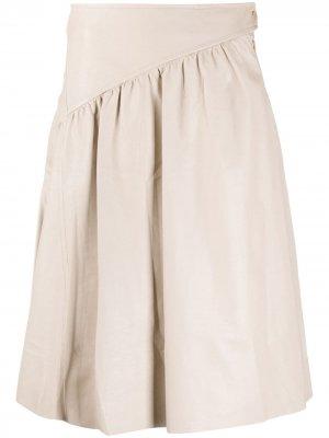 Расклешенная юбка Drome. Цвет: нейтральные цвета