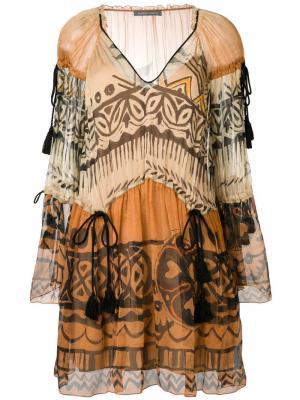 Платье с принтом Alberta Ferretti