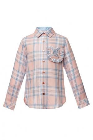 Розовая рубашка в клетку Yudashkin Kids. Цвет: розовый