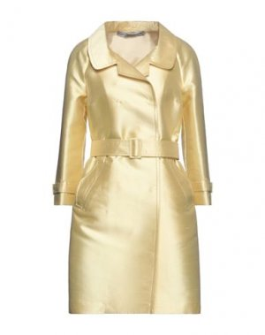 Легкое пальто ERMANNO SCERVINO. Цвет: светло-желтый
