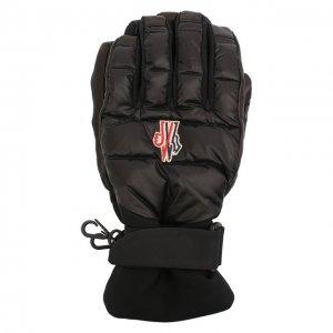 Пуховые перчатки Moncler Grenoble. Цвет: чёрный