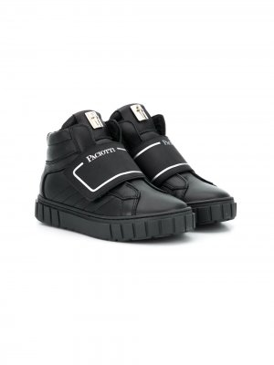 Touch strap high-top sneakers Cesare Paciotti Kids. Цвет: черный