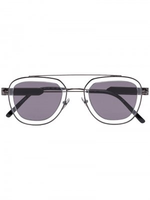Солнцезащитные очки-авиаторы 1910 Calvin Klein 205W39nyc. Цвет: серый