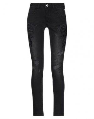 Джинсовые брюки RELISH. Цвет: черный