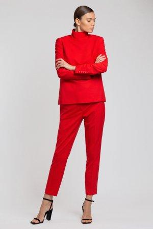 Укороченные брюки зауженного кроя VASSA&Co. Цвет: красный