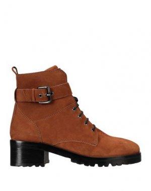 Полусапоги и высокие ботинки BRUNO PREMI. Цвет: желто-коричневый