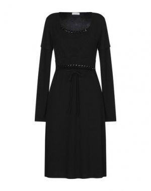 Платье до колена CLUB VOLTAIRE. Цвет: черный