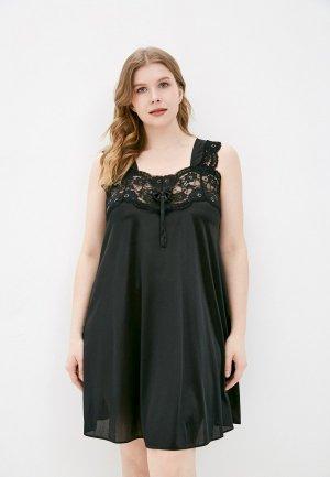 Сорочка ночная Belweiss. Цвет: черный