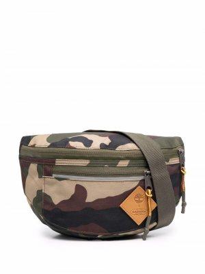 Камуфляжная поясная сумка с нашивкой-логотипом Eastpak. Цвет: зеленый