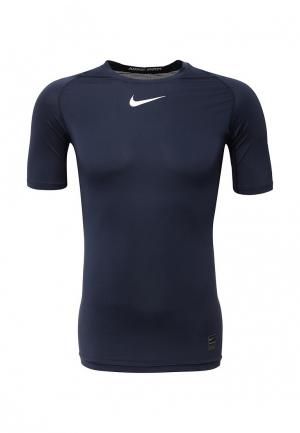 Футболка спортивная Nike Pro Mens Short-Sleeve Top. Цвет: синий