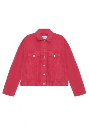 Джинсовая куртка Acne Studios. Цвет: красный