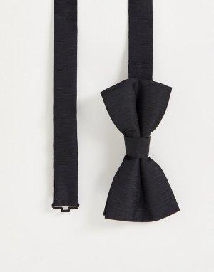 Однотонный галстук-бабочка -Черный цвет French Connection