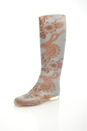 Резиновые сапоги KEDDO. Цвет: коричневый