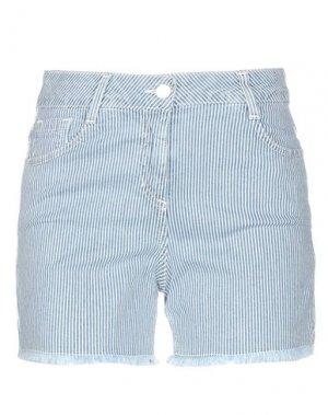 Джинсовые шорты MARIA GRAZIA SEVERI. Цвет: синий