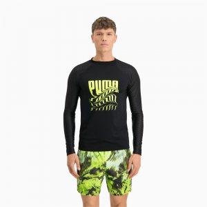 Лонгслив Swim Men's PsyGeo Rash Guard PUMA. Цвет: черный
