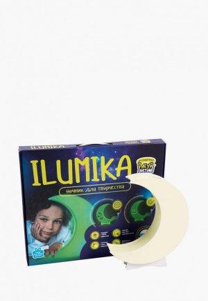 Набор для творчества Рисуй Светом Ночник ILUMIKA Луна. Цвет: зеленый