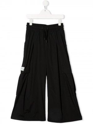 Широкие брюки с эластичным поясом Dkny Kids. Цвет: черный