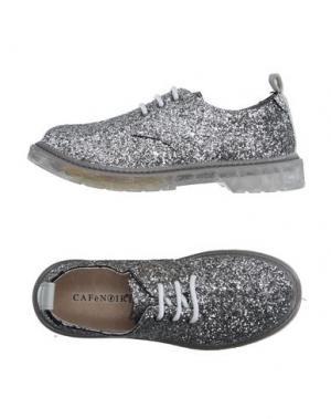 Обувь на шнурках CAFèNOIR. Цвет: серебристый