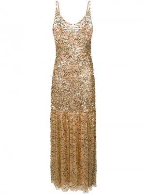 Коктейльное платье с пайетками Aniye By. Цвет: золотистый