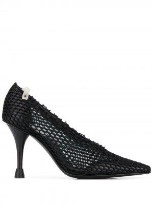 Сетчатые туфли-лодочки с заостренным носком Premiata. Цвет: черный