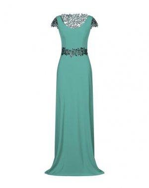 Длинное платье CARLO PIGNATELLI CERIMONIA. Цвет: зеленый