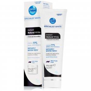 Зубная паста с активированным углем Instant Natural White Charcoal Toothpolish 75 мл Pearl Drops