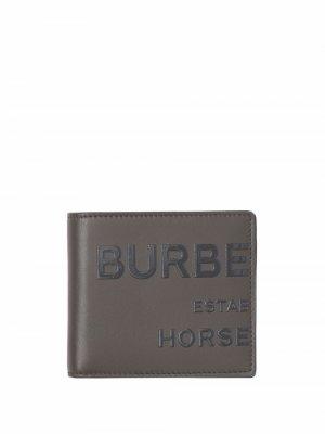 Бумажник с принтом Horseferry Burberry. Цвет: серый