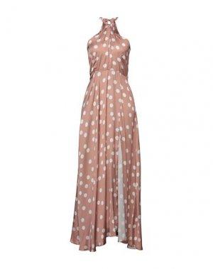 Длинное платье FLY GIRL. Цвет: светло-коричневый