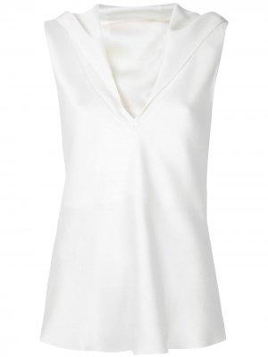 Многослойная блузка Gloria Coelho. Цвет: белый