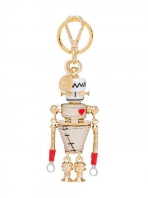 Брелок в форме робота Prada. Цвет: золотистый