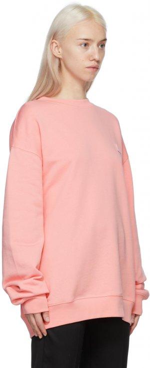 Pink Crewneck Patch Sweatshirt Acne Studios. Цвет: ad1 blush