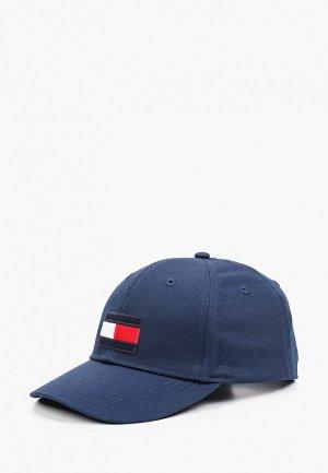 Бейсболка Tommy Hilfiger. Цвет: синий