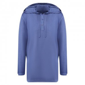 Пуловер из смеси кашемира и шелка Kiton. Цвет: синий