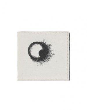 Бумажник ANN DEMEULEMEESTER. Цвет: слоновая кость