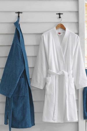 Комплект для ванной Cotton box. Цвет: blue, white