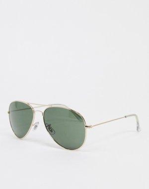 Солнцезащитные очки-авиаторы -Золотистый Jack & Jones