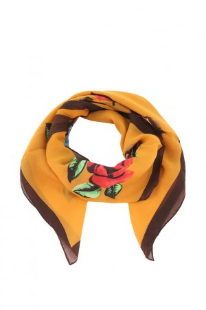 Платок Kenzo. Цвет: желтый, коричневый