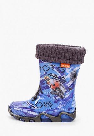 Резиновые сапоги Demar. Цвет: синий