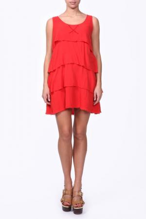 Платье Aiko. Цвет: красный