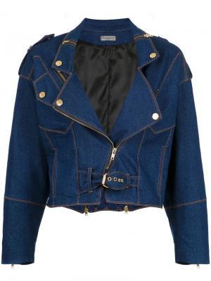 Укороченная джинсовая куртка Amapô. Цвет: синий