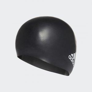 Шапочка для плавания Silicone Logo Performance adidas. Цвет: черный
