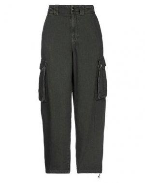 Джинсовые брюки SEMICOUTURE. Цвет: зеленый-милитари