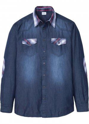 Рубашка джинсовая bonprix. Цвет: синий