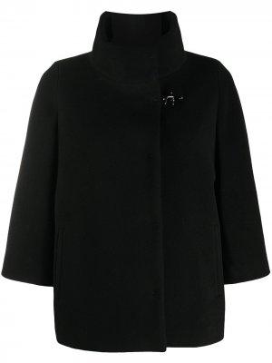 Funnel neck cape Fay. Цвет: черный