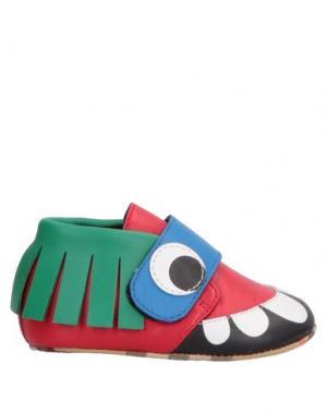 Обувь для новорожденных BURBERRY. Цвет: красный