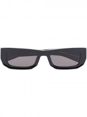 Солнцезащитные очки Bricktop в прямоугольной оправе FLATLIST. Цвет: черный