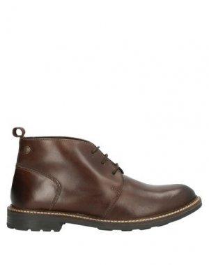 Полусапоги и высокие ботинки BASE London. Цвет: какао