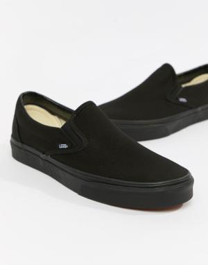 Черные кеды-слипоны Classic-Черный цвет Vans